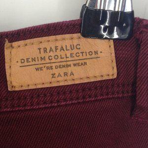 Zara Jeans - Zara Trafaluc Denim Collection Maroon Skinny Jeans